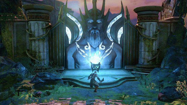 Znajdziesz tutaj bram� oraz l�d Posejdona - 6 - Zbiornik - God of War: Ascension - poradnik do gry