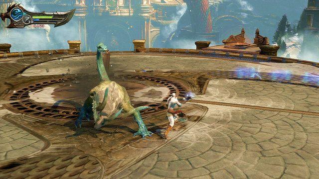 Na szczycie wieży zostaniesz zaatakowany przez chimerę - Walka z Chimerą - 7 - Delficka Wieża - God of War: Ascension - poradnik do gry