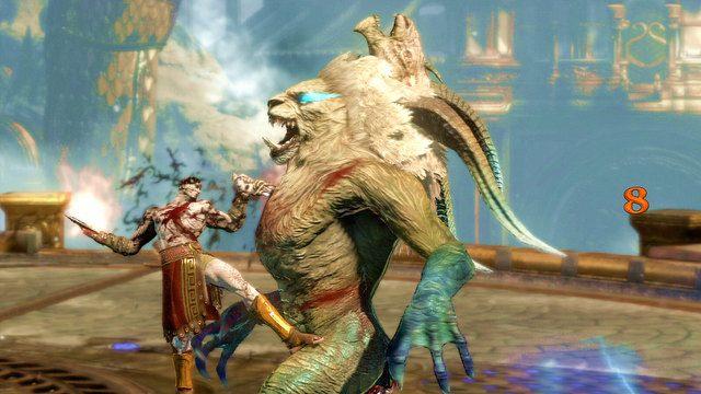 W drugiej fazie potwór stanie na dwóch łapach - Walka z Chimerą - 7 - Delficka Wieża - God of War: Ascension - poradnik do gry