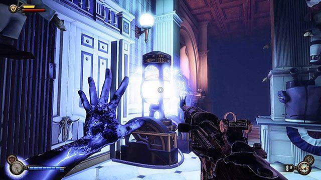W sklepie z zabawkowymi żołnierzykami znajduje się jeden z węzłów elektrycznych - Uruchom gondolę na Żołnierskim Polu - Rozdział 12 - Wróć na Plac Sali Bohaterów - BioShock: Infinite - poradnik do gry