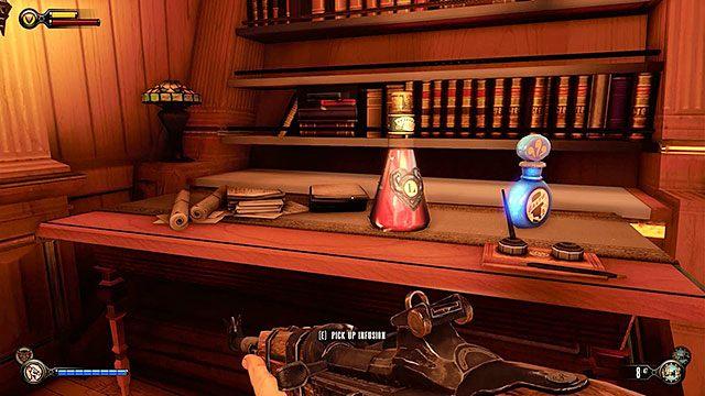 Po przeczesaniu stacji, wejdź do windy, która zabierze Cię na okręt - Wjedź gondolą na okręt Pierwsza Dama - Rozdział 12 - Wróć na Plac Sali Bohaterów - BioShock: Infinite - poradnik do gry