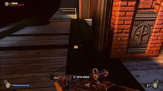 Po oczyszczeniu i przeszukaniu doków, skieruj się do tunelu niedaleko budynku z sejfem - Znajdź Elizabeth - Rozdział 13 - Doki Finkton - BioShock: Infinite - poradnik do gry
