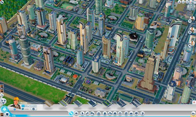 Menu dróg [Roads] można znaleźć w panelu budowy na samym dole ekranu (screen powyżej) - Drogi i transport - SimCity - poradnik do gry