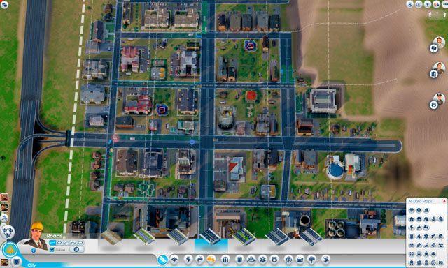 Miasto rozwija się najlepiej, kiedy jest podzielone na kwadratowe lub prostokątne pola - Drogi i transport - SimCity - poradnik do gry
