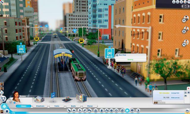 Przystanki autobusowe należy budować co kilkaset metrów, zawsze przed wejściem do budynków - Budynki autobusowe - Drogi i transport - SimCity - poradnik do gry
