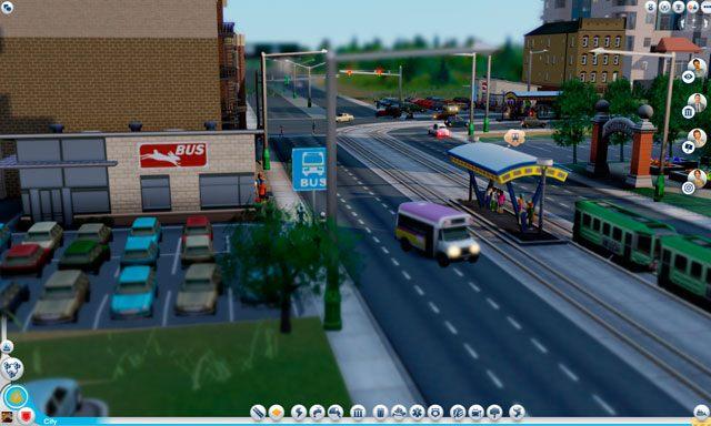 Zastosowanie tego budynku jest dość proste - simowie wjeżdżają do niego swoimi autami, po czym przesiadają się do transportu publicznego - Budynki autobusowe - Drogi i transport - SimCity - poradnik do gry