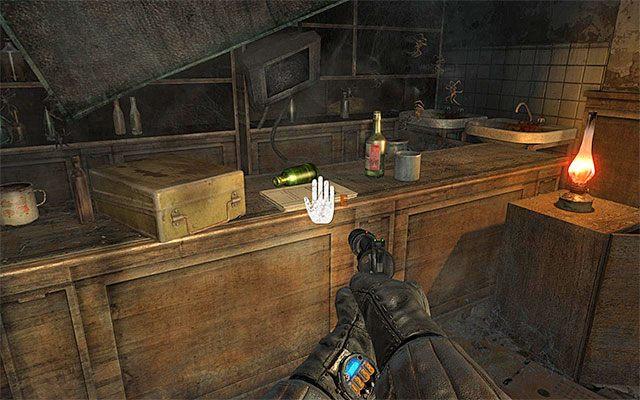 Nie śpiesz się z dołączeniem do Pawła tylko dokładnie zbadaj pomieszczenie, w którym rozpoczął się ten rozdział - Podążaj za Pawłem do Stacji Teatr   Rozdział 8 - Echo - Metro: Last Light - poradnik do gry