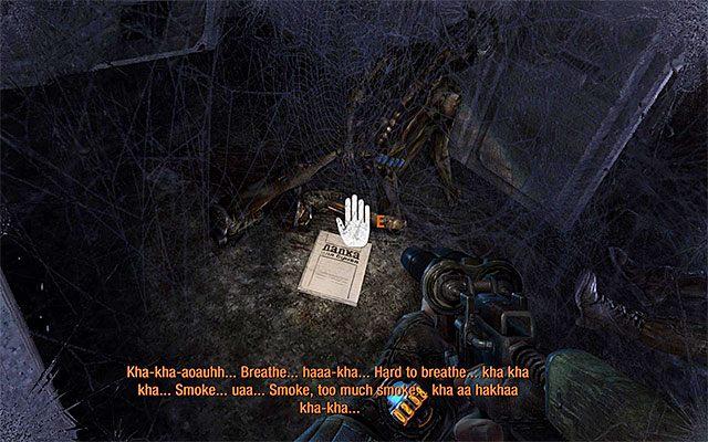 Po odzyskaniu kontroli nad głównym bohaterem odwróć się w stronę Pawła i zainteresuj się na początek leżącą po lewej stronie oraz pokazaną na dołączonym screenie ukrytą stroną dziennika Artema - Podążaj za Pawłem do Stacji Teatr   Rozdział 8 - Echo - Metro: Last Light - poradnik do gry