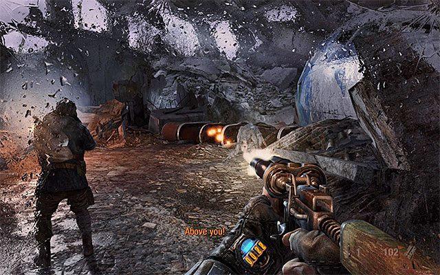 Także i tu zostaniecie napadnięci przez znane już odmiany potworów - Podążaj za Pawłem do Stacji Teatr   Rozdział 8 - Echo - Metro: Last Light - poradnik do gry