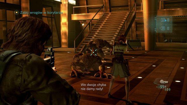 Chwilę później zostaniesz zaatakowany przez nowy rodzaj mutantów - Duchy Veltro - część I - Epizod 3 - Resident Evil: Revelations - poradnik do gry