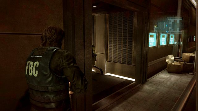 Po oczyszczeniu pomieszczenia przeszukaj teren w poszukiwaniu nabojów i ziół, a następnie idź za Jessicą do windy - Duchy Veltro - część I - Epizod 3 - Resident Evil: Revelations - poradnik do gry