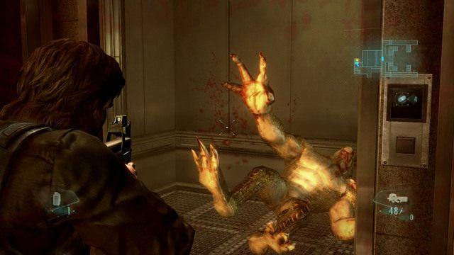 W środku czeka na ciebie przeciwnik, ale pojedyncza bestia nie powinna sprawić ci większych problemów - Duchy Veltro - część I - Epizod 3 - Resident Evil: Revelations - poradnik do gry
