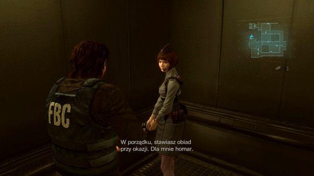 Gdy zginie, wciśnij przycisk i pojedź na górę budynku - Duchy Veltro - część I - Epizod 3 - Resident Evil: Revelations - poradnik do gry