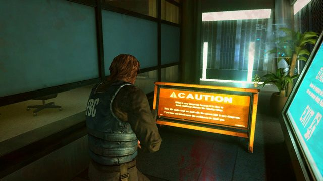 Idąc cały czas prosto dotrzesz do miejsca z pomarańczową blokadą - Duchy Veltro - część I - Epizod 3 - Resident Evil: Revelations - poradnik do gry
