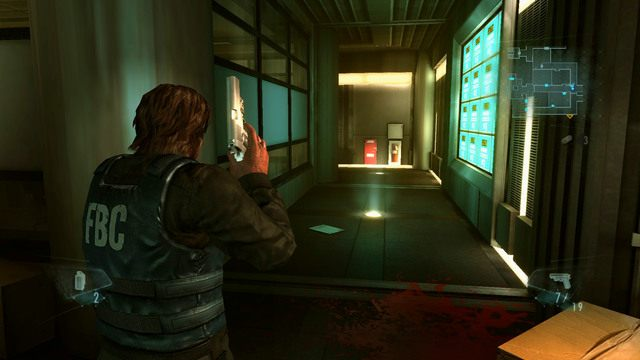 Opuść salę wyjściem po drugiej stronie, a znajdziesz się na krótkim korytarzu - Duchy Veltro - część I - Epizod 3 - Resident Evil: Revelations - poradnik do gry