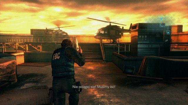 Tam czeka na ciebie helikopter i zakończenie tej części etapu - Duchy Veltro - część I - Epizod 3 - Resident Evil: Revelations - poradnik do gry