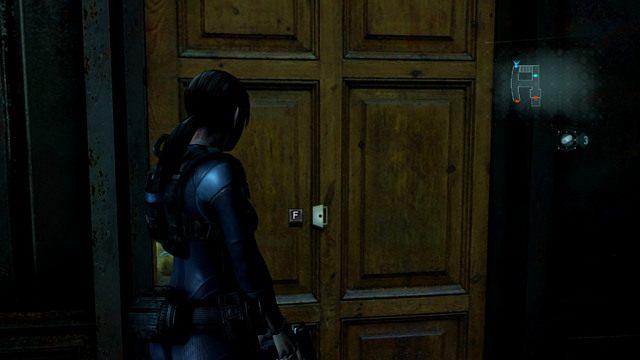Po zebraniu przedmiotów skręć w prawo, zabij wałęsającego się korytarzem mutanta, a następnie wejdź do pokoju z prawej - Duchy Veltro - część II - Epizod 3 - Resident Evil: Revelations - poradnik do gry