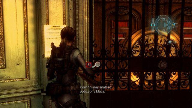 Dowiesz się z niej, że poszukiwany przez ciebie klucz znajduje się prawdopodobnie w części okrętu zwanej promenadą - Duchy Veltro - część II - Epizod 3 - Resident Evil: Revelations - poradnik do gry