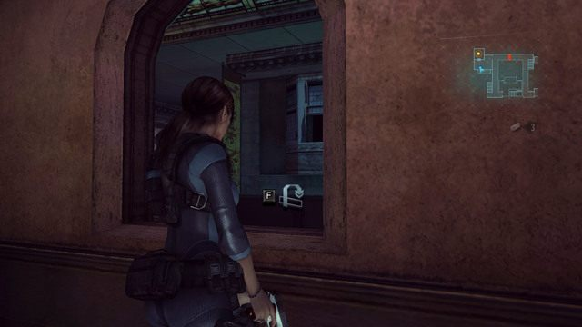 Przydatne będą również wszelkiego rodzaju skrótu, umożliwiające szybkie zeskoczenie piętro niżej czy wyskoczenie z pokoju przez okno - Duchy Veltro - część II - Epizod 3 - Resident Evil: Revelations - poradnik do gry