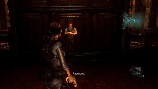 Na początku opuść pomieszczenia i odbierz od Raymonda klucz z symbolem Kotwicy - Koszmar powraca - Epizod 4 - Resident Evil: Revelations - poradnik do gry