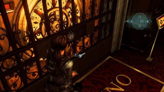 Musisz otworzyć za jego pomocą drzwi do kasyna, które znajdziesz pod pobliskimi schodami - Koszmar powraca - Epizod 4 - Resident Evil: Revelations - poradnik do gry
