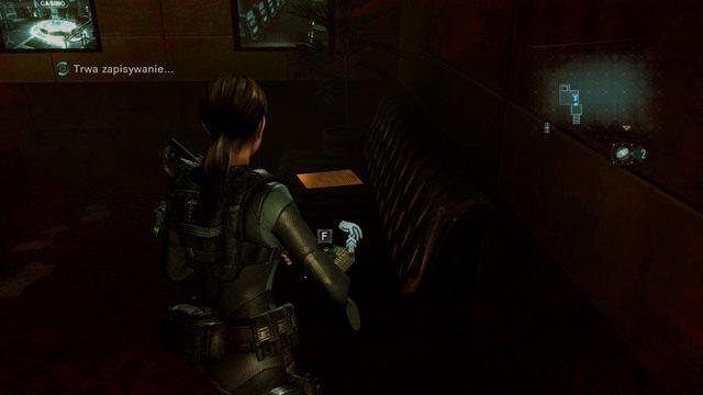 Za nimi znajdziesz amunicję, skrzynię z bronią oraz zejście do kanałów wentylacyjnych - Koszmar powraca - Epizod 4 - Resident Evil: Revelations - poradnik do gry