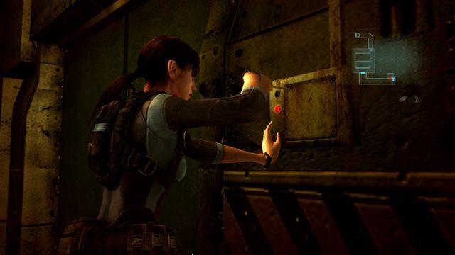 Dotrzesz w ten sposób do kolejnego przejścia, które musisz odblokować przez skrzynkę z prawej - Koszmar powraca - Epizod 4 - Resident Evil: Revelations - poradnik do gry