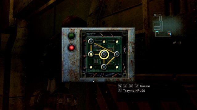 Aby zaliczyć mini-gierkę, przesuń okręg ze środka w lewo i okręg z prawego-górnego rogu na środek - Koszmar powraca - Epizod 4 - Resident Evil: Revelations - poradnik do gry