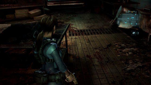 Za otwartymi w ten sposób drzwiami idź cały czas prosto, zabijając napotkane mutanty - Koszmar powraca - Epizod 4 - Resident Evil: Revelations - poradnik do gry