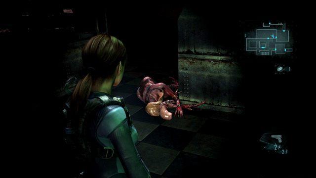 Ostatnie starcie czeka cię w pomieszczeniu z świecącym na fioletowo automatem - Koszmar powraca - Epizod 4 - Resident Evil: Revelations - poradnik do gry