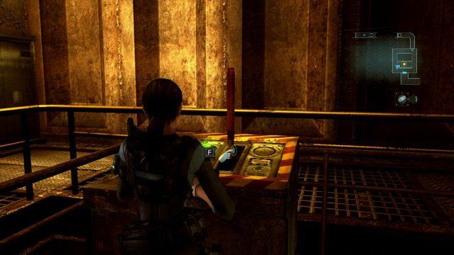 Możesz teraz wrócić do windy, użyć klucza na odpowiednim panelu, a następnie pociągnąć za dźwignie - Koszmar powraca - Epizod 4 - Resident Evil: Revelations - poradnik do gry