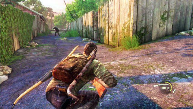 Wyjdziesz w ten spos�b na drog�, gdzie czekaj� na ciebie kolejni przeciwnicy - Cmentarz - Miasteczko Billa - The Last of Us - poradnik do gry