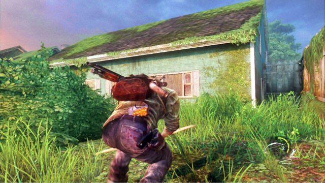 Na szczycie wzg�rza stoi du�y zielony dom, gdzie znajdziesz kilka przydatnych materia��w - Cmentarz - Miasteczko Billa - The Last of Us - poradnik do gry