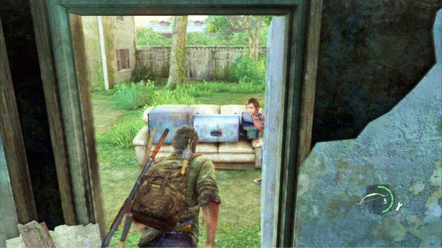 Ellie przeci�nie si� na drug� stron� i otworzy przej�cie - Cmentarz - Miasteczko Billa - The Last of Us - poradnik do gry