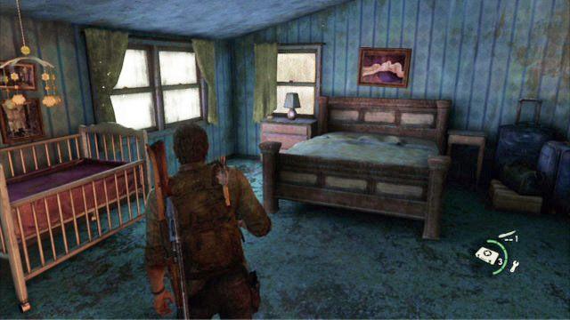 Gdy dotrzesz do kolejnego domu, uwa�nie przeszukaj g�rne pi�tro, a nast�pnie pod��aj za Billem - Cmentarz - Miasteczko Billa - The Last of Us - poradnik do gry