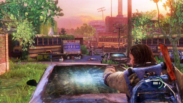 Razem wyjdziecie przez gara� i dotrzecie do lokacji pe�nej przeciwnik�w - Cmentarz - Miasteczko Billa - The Last of Us - poradnik do gry
