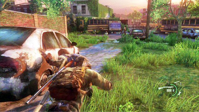 Twoim zdaniem jest zabicie wszystkich wrog�w, ale zanim zaczniesz strzela� z broni palnej, warto zabi� kilku po cichu - Cmentarz - Miasteczko Billa - The Last of Us - poradnik do gry