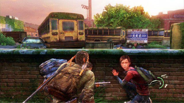 Twoim pierwszym celem jest stw�r za murkiem z prawej - Cmentarz - Miasteczko Billa - The Last of Us - poradnik do gry