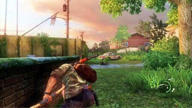Gdy zginie, odwr�� si� w prawo i zestrzel kolejnego przeciwnika - Cmentarz - Miasteczko Billa - The Last of Us - poradnik do gry