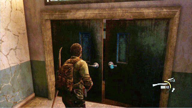 W ten spos�b oczy�cisz lokacj� i b�dziesz m�g� otworzy� drzwi kawa�ek dalej - Ucieczka z budynku szko�y - Miasteczko Billa - The Last of Us - poradnik do gry