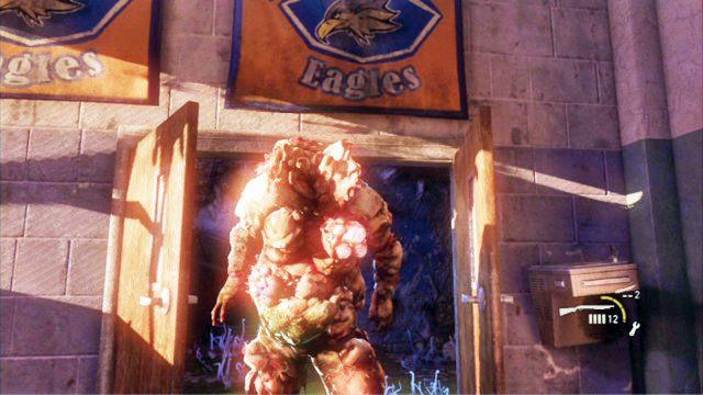Purchlak to bardzo pot�ny przeciwnik, kt�ry potrafi rzuca� wybuchaj�cymi zarodnikami - Ucieczka z budynku szko�y - Miasteczko Billa - The Last of Us - poradnik do gry