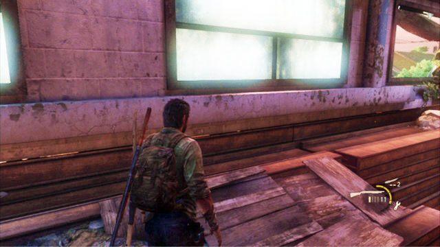 Chwil� p�niej za twoimi plecami pojawi si� trzech biegaczy - Ucieczka z budynku szko�y - Miasteczko Billa - The Last of Us - poradnik do gry