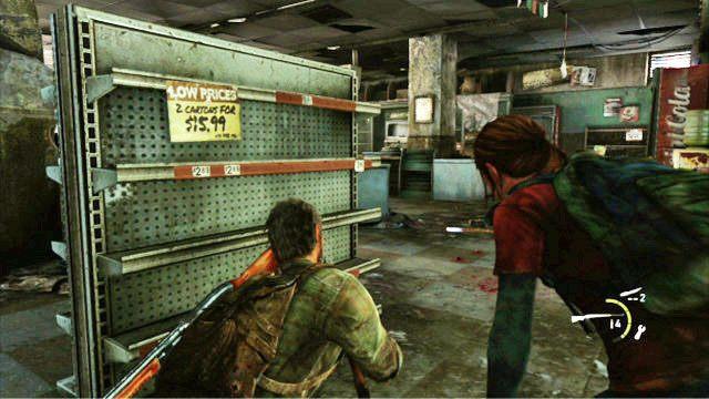 Gdy ostatni napastnik padnie martwy na ziemie, zajmij si� przeszukiwaniem lokacji - Samotna i porzucona - Pittsburgh - The Last of Us - poradnik do gry