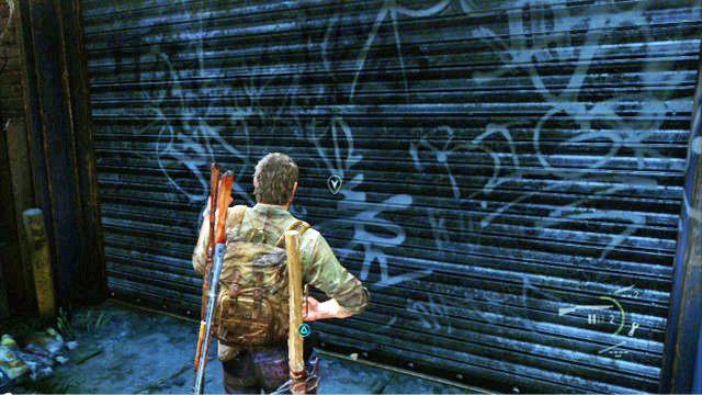 Jak sprawdzisz ju� ka�dy k�t, otw�rz drzwi gara�owe na lewym kra�cu uliczki - Samotna i porzucona - Pittsburgh - The Last of Us - poradnik do gry