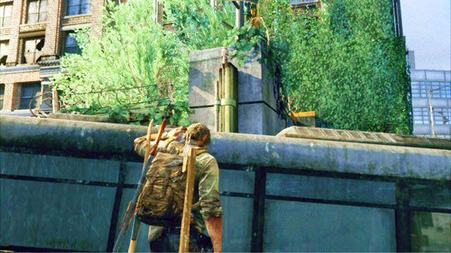 Gdy teren b�dzie czysty, wdrap si� po samochodzie na autobus i przeskocz na drug� stron� ogrodzenia - Samotna i porzucona - Pittsburgh - The Last of Us - poradnik do gry