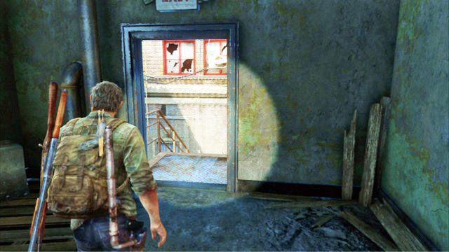 Gdy sko�czysz, wyjd� na schody przeciwpo�arowe za sklepem i kieruj si� ca�y czas prosto - Samotna i porzucona - Pittsburgh - The Last of Us - poradnik do gry