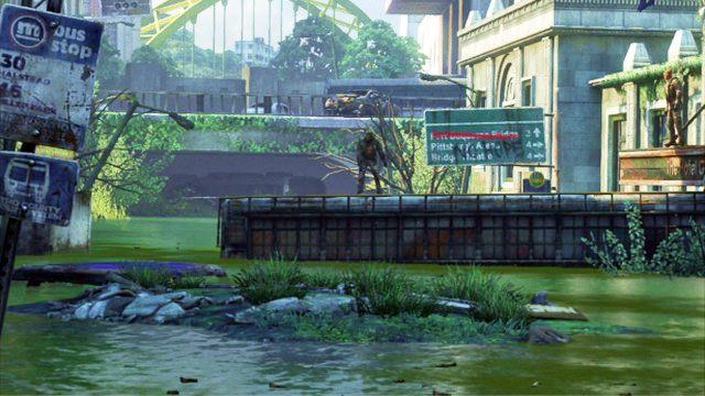 Ostateczne dotrzesz do ma�ego zielonego jeziorka, gdzie rozpocznie si� kr�tka animacja - Samotna i porzucona - Pittsburgh - The Last of Us - poradnik do gry