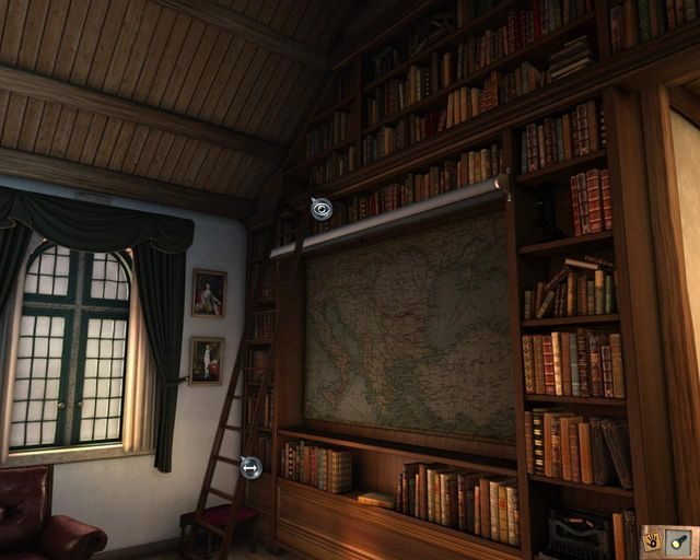 Położenie pierwszego tomu - Tajemnice profesora - Rozdział 1 - Posiadłość - Dracula 4: The Shadow of the Dragon - poradnik do gry