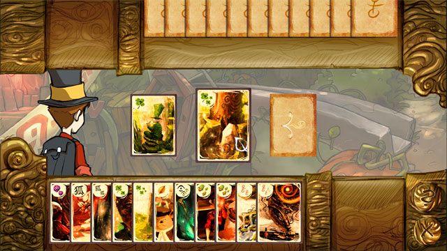 Po wybraniu znaku koniczyny masz do wyboru brakujące ci karty - Gra w karty Kwartet - Elementy gry - The Night of the Rabbit - poradnik do gry