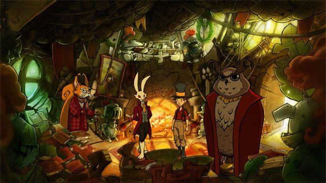 Wróci po ciebie Markiz i razem wejdziecie do ratusza - Przygoda w Mysiborze - Solucja - The Night of the Rabbit - poradnik do gry
